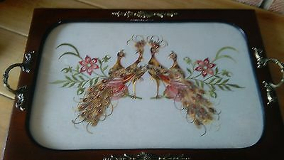 Antique victorian serving tray