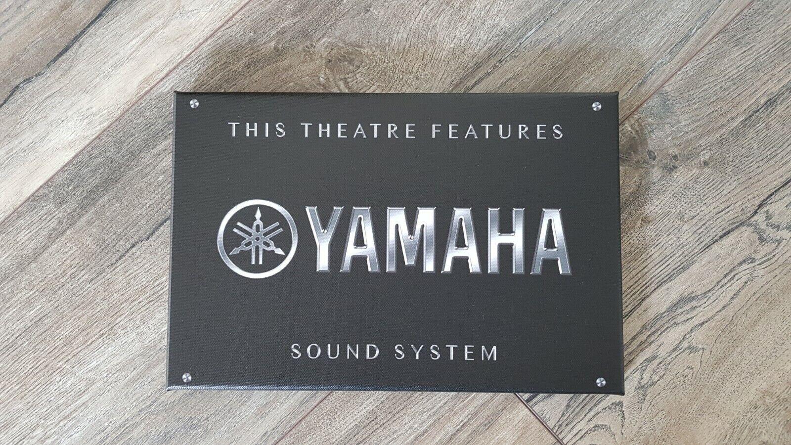 DOLBY VISION/ATMOS/DTS X/CANTON/YAMAHA Leinwand 20x30 cm Schild Logo/Bild