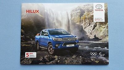 Toyota Hilux Icon Invincible X Active brochure book catalogue March 2018 MINT