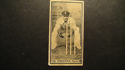 D C THOMSON THE WORLDS BEST CRICKETERS No29 H STRUDWICK SURREY