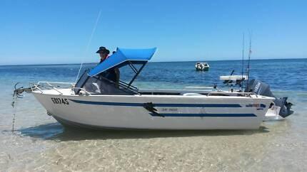 Quintrex 5.4 meter Aluminium Boat