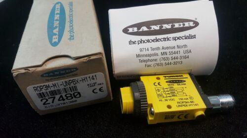 NEW TURCK Banner Mini-Beam ROP3M-MI-UNP6X-H1141, 10-30 VDC 27480 (M623)