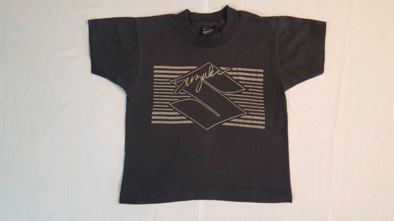 Vintage Suzuki T- Shirt Size Kids 7-8 80s