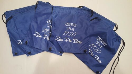 New Zeta Phi Beta Sorority Drawstring Bag