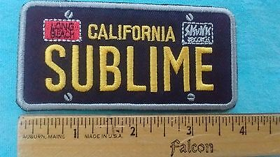 Sublime California License Plate 3.75 Inch Patch