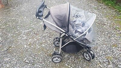NEW Mamas and Papas URBO2 Black Trimmed Pram Pushchair Raincover Rain Cover