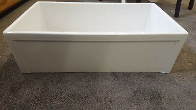 840X460X260MM NO OVERFLOW SINGLE BOWL BELFAST STYLE CERAMIC KITCHEN SINK for sale  Neath