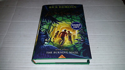 Trials Of Apollo Book 3  The Burning Maze By Rick Riordan  2018  Signed 1St 1St