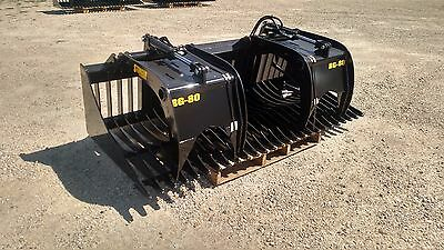 New 78 Rock Skeleton Bucket With Grapples. 48 Opening Gr 50 Steel Skid Steer