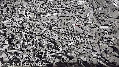 ☀NEW 100+ LIGHT GREY GRAY LEGO PIECES FROM HUGE BULK LOT BRICKS PARTS@  RANDOM