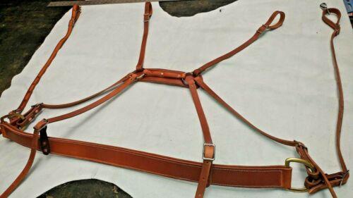 Made in USA Horse or Mule leather saddle Breeching/Horse tack/SADDLE/USA