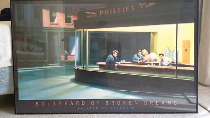 "BOULEVARD OF BROKEN DREAMS  Framed Poster by  ""HELNWEIN"" Cooloongup Rockingham Area Preview"