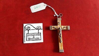 Cross Antique Jesus Christ Solid Silver Pendant - REF26829
