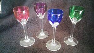 Baccarat Genova Colored Cordial Glasses (12 total)