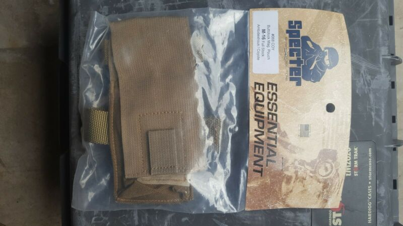 NEW in PACKAGE - USGI COYOTE BUTTSTOCK MAG POUCH SPECTER - #068 COY