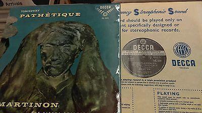 Tchaikovsky Pathetique SXL2004 Decca vinyl record ED1 wide band NM/EX vinyl