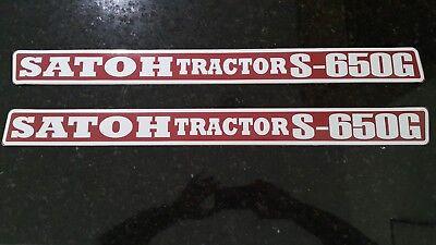 Satoh Tractor S650g Hood Decals.