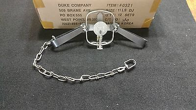 1 Duke #11 Long Spring Double Jaw trap 0321 Trapping Mink Coon Muskrat Survival