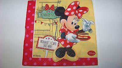 s Cafe Minnie Mouse Napkins (Minnie Mouse Servietten)
