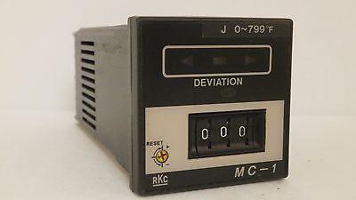 Rkc Temperature Controller 0-799 Degrees Fahrenheit Mc-1