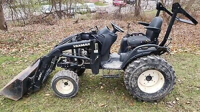 2017 Sa424 Yanmar Compact Tractor W Loader Only 291 Hours