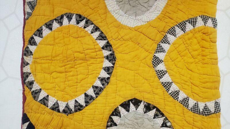 Antique Cheddar Homespun Quilt Piece Cotton