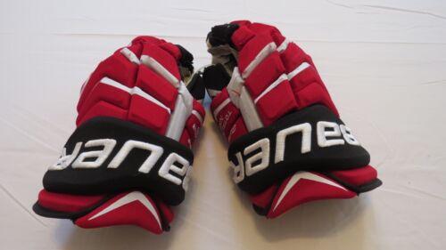 "Used Damon Severson Bauer Supreme NXG Pro Stock NJ Devils 14"" Hockey Gloves!"