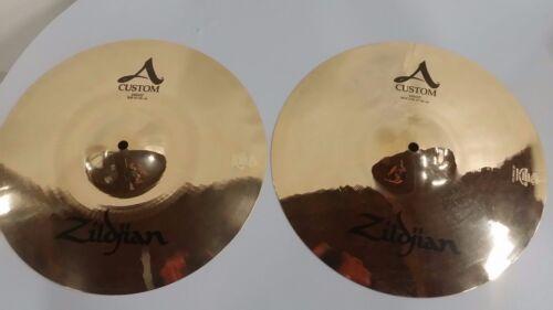 "Zildjian A custom 14"" hihat BRILLIANT(PAIR) **MINT CONDITION A20510"