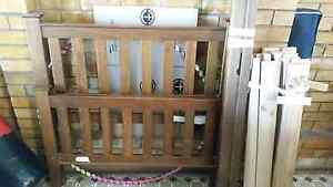 King timber single bed with mattress Ipswich Ipswich City Preview