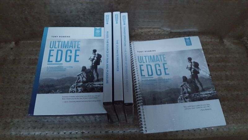 Tony Robbins Ultimate Edge 3 part system 20 audio CDs 2 DVDs 3 PowerTalk audio