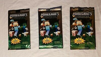 Minecraft Collectible Sticker-Cards Lot of 3