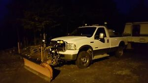 2005 Ford F-250 XLT 4x4 6.0L Diesel With Plow and Sander! St. John's Newfoundland image 1