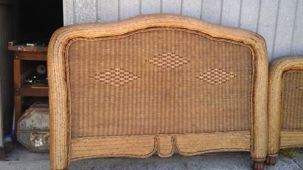 Vintage Qween cane bed frame