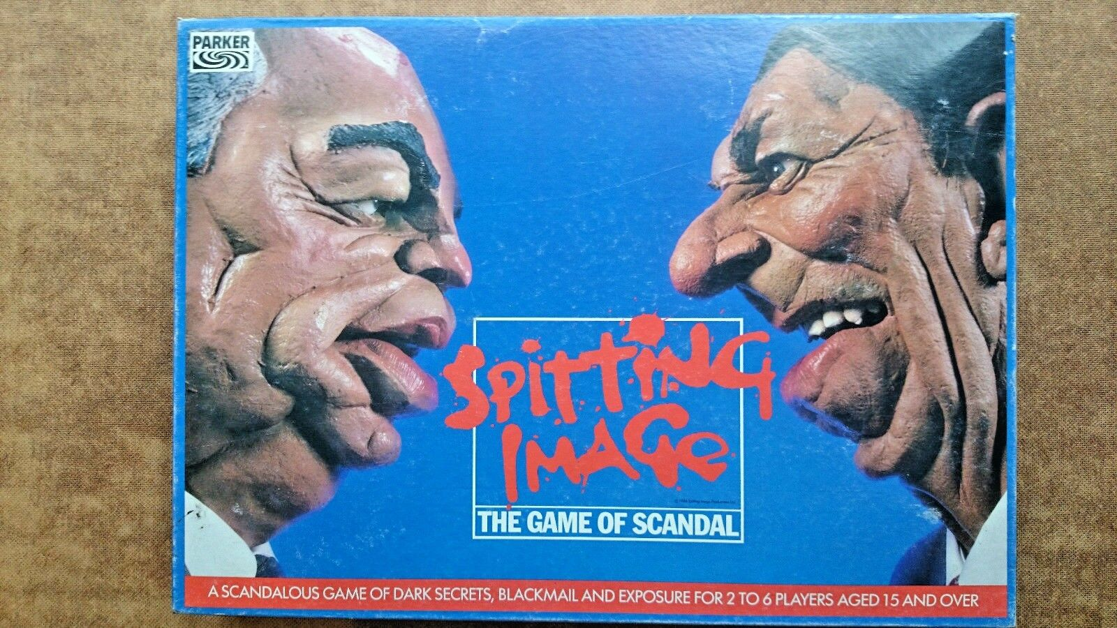 Spitting Image The Game of Scandal  by Parker 1984