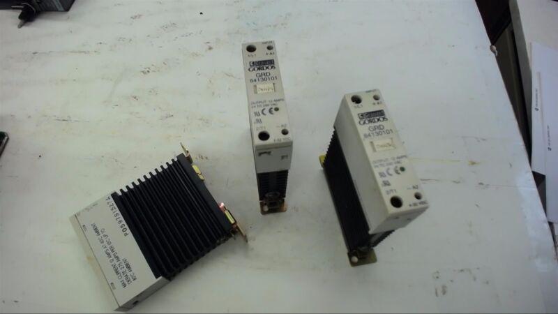 Lot Of 3-- Crouzet Gordos Grd 84130101 Relay 12 Amp, 24-280 Vac Output