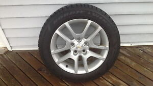 4 like new Nordic winter tires on aluminum rims-Reduced