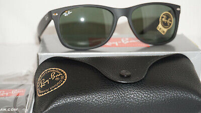 Ray Ban New Sunglasses New Wayfarer Black Green G-15 RB2132 622 58 (Rays Colored Glasses)