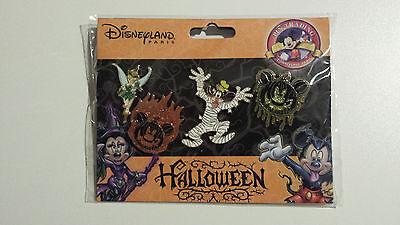 Disney Disneyland Paris Halloween Booster Set 4 Pins DLRP Pin Trading Goofy NEU