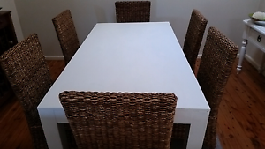 Dining table and cane chairs Berkeley Vale Wyong Area Preview