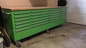 Large green tool box like new