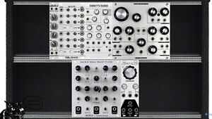 Eurorack Modular Synthesizer Portable Powered Case Pedals
