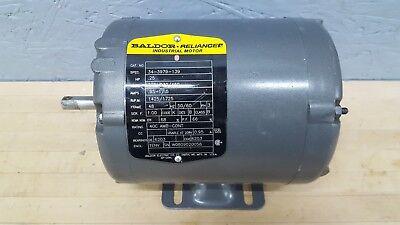 Baldor .25 Hp 1725 Rpm Electric Motor 208-230460v 3 Phase Frame 48 Used