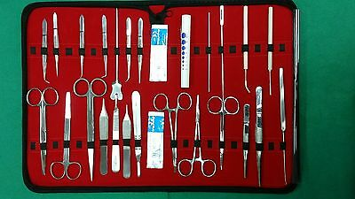40 Pcs Biology Lab Anatomy Medical Student Dissecting Kit Scalpel Blades 10