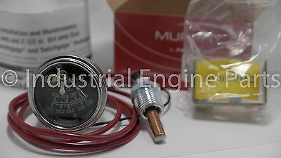 Murphy 20T-250-4-1/2 (130-250 F) Temp Gauge used on chippers and other equipment