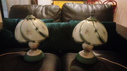 Pair of antique touch lamps