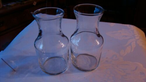 Two Libbey Glassware - 3 oz Glass Decanter -  Wine Serving Clear Marked