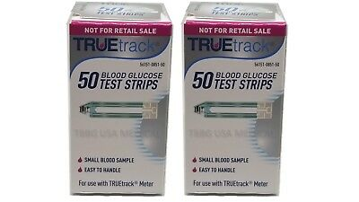 TRUE track Diabetic Blood Glucose Test Strips 100CT. &Free Shipping EXP 2020+ N