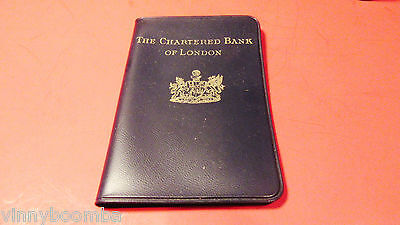 VINTAGE BANK PROMOTIONAL NOTEPAD THE CHARTERED BANK OF LONDON POCKET NOTE BOOK