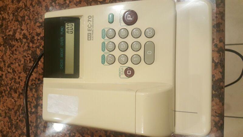 Max EC-70 Max Model EC-70 Electronic Checkwriter