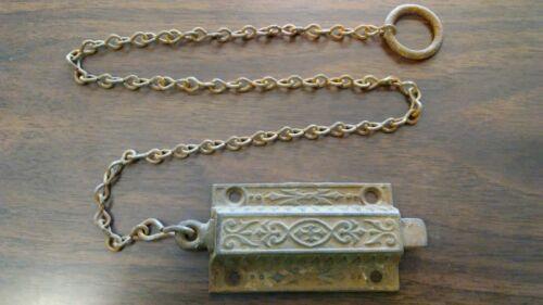 Antique vintage Eastlake Victorian door top latch dead bolt spring lock ***